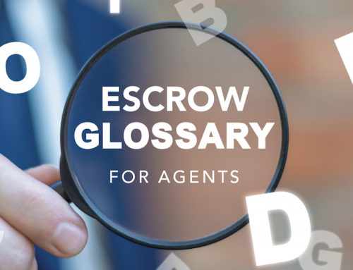 Escrow Glossary for Agents